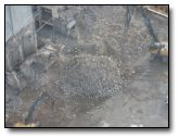 Aerial showing concrete debris - this will turned into Type 1 and Used in basement fill